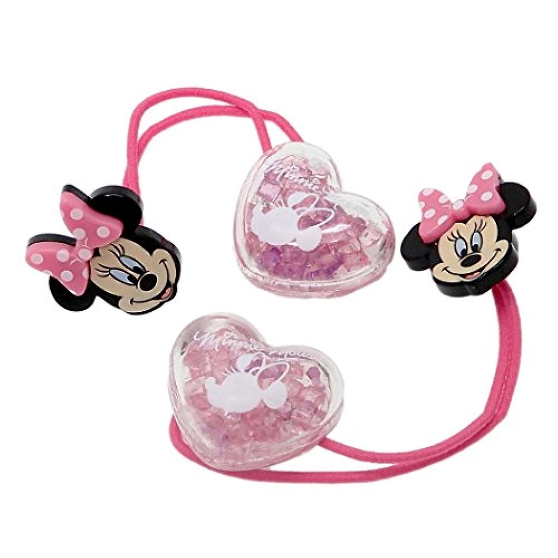 ミニーマウス[ヘアアクセ]シェイクヘアポニー2本セット/ピンク ディズニー