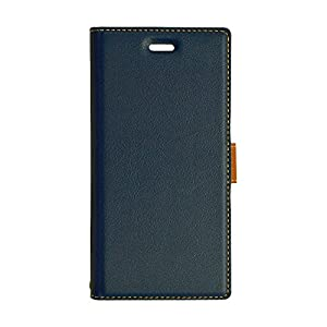 ラスタバナナ Xperia XZ1(SO-01K / SOV36) ケース 薄型手帳 ネイビー×ブラウン 3626XZ1