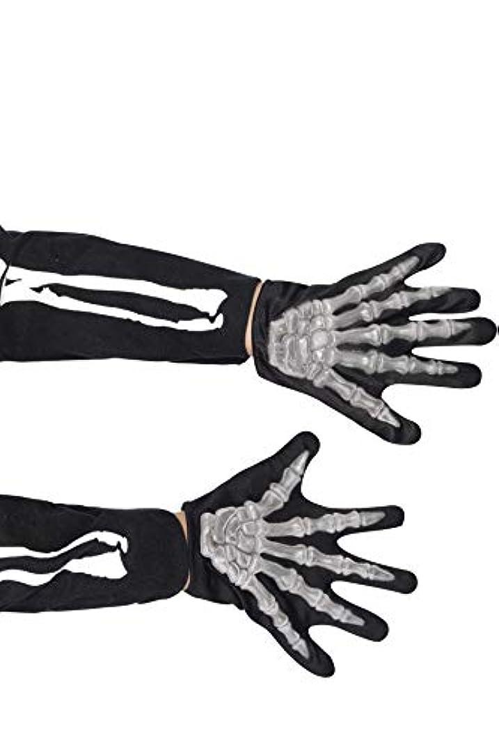 舌足枷集団的Smiffy's Gloves Skeleton Childs Raised Bones