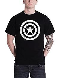 Captain America T Shirt shield logo Civil War 新しい 公式 marvel メンズ