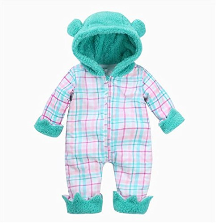 MARIAH(マリア)新生児服 カバーオール ロンパース オールインワン チェック 男の子 女の子 赤ちゃん ベビー