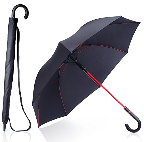 anngrowy 長傘 メンズ レディース 紳士傘 ゴルフ用長傘 高強度グラスファイバー傘骨 耐風 強風でも折れにくい ワンタッチ 傘 自動開け 撥水加工 梅雨対策 軽量 晴雨兼用 uvカット プレゼント 父の日 おしゃれ 改良後