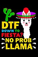 DTF down to fiesta? No probllama: Composition Journal Notebook Wide Ruled with 100 lined pages for you as budget planner or password organizer or your kids as a back to school or kindergarten gift