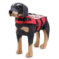 ドッグライフジャケット、ペット水着ライフジャケットペットマーメイド反射水着服クジラ犬水着,赤,L