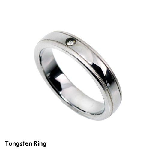 【BLUEGMES】タングステン リング 指輪 アレルギーに優しい シンプル メンズ レディース ;AMRI-080-16