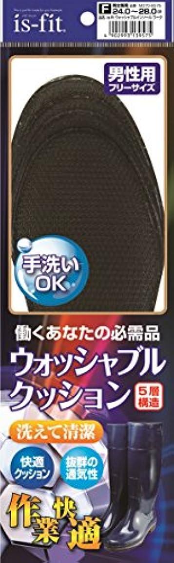 爵資金肘掛け椅子is-fit(イズフィット) ウォッシャブルインソール ワーク 男性用 ブラック