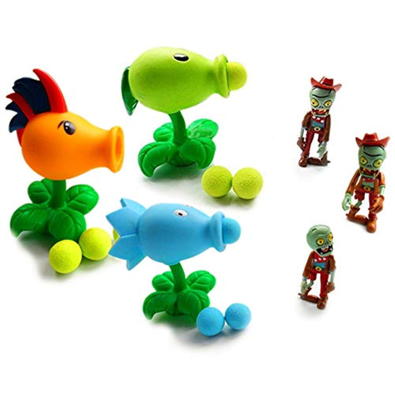 (トイズウィル) Toyswill プラントvsゾンビ シューティングセット ピーシューター、ゾンビ、ボール3個付き