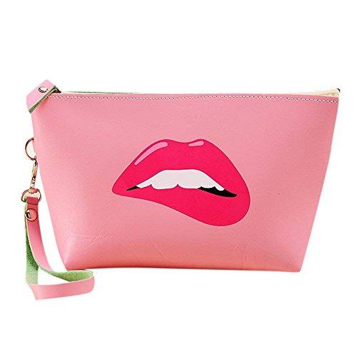 DRASAWEE(JP)化粧ケース セクシー唇 赤唇 コスメポーチ バニティ 化粧ポーチ 機能的 使いやすい コス...