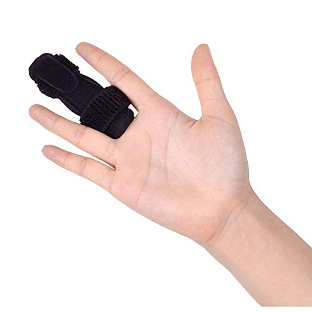 リール不快ましい指サポーター 指保護 ばね指サポーター 腱鞘炎 調整自在 気性良好 左右兼用 ブラック