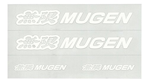 MUGEN【 無限 】エンブレム ステッカー S (ホワイト) 90000-YZ5-AV69-WH