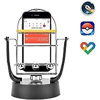 Rainbrace 回転スイング バランスボール 歩数を増やす 稼ぐ 永久運動 携帯電話自動スイング スマホスタンド USB給電 振り子教育玩具 スマートフォン ポケモンゴー(Pokemon GO)やwalkr、Google Fitに
