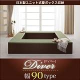 IKEA・ニトリ好きに。日本製ユニット式畳ボックス収納【Diver】ディバー 幅90タイプ(1体)