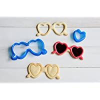 【The cookie cutter land】ハートサングラスクッキー型 アイシングクッキー