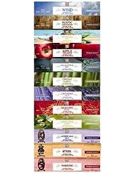Aromatherapy Hosley 480 Pack:LAVENDER FIELDS EUCALYPTUS MINT RUSTIC SANDALWOOD SWEET PEA JASMINE TROPICAL MIST...