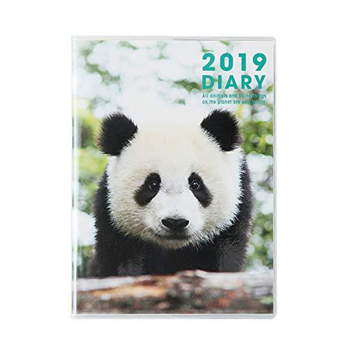グリーティングライフ パンダ 手帳 2019年 A6 ソフトカバー マンスリー CD-771-PA 2018年 12月始まり