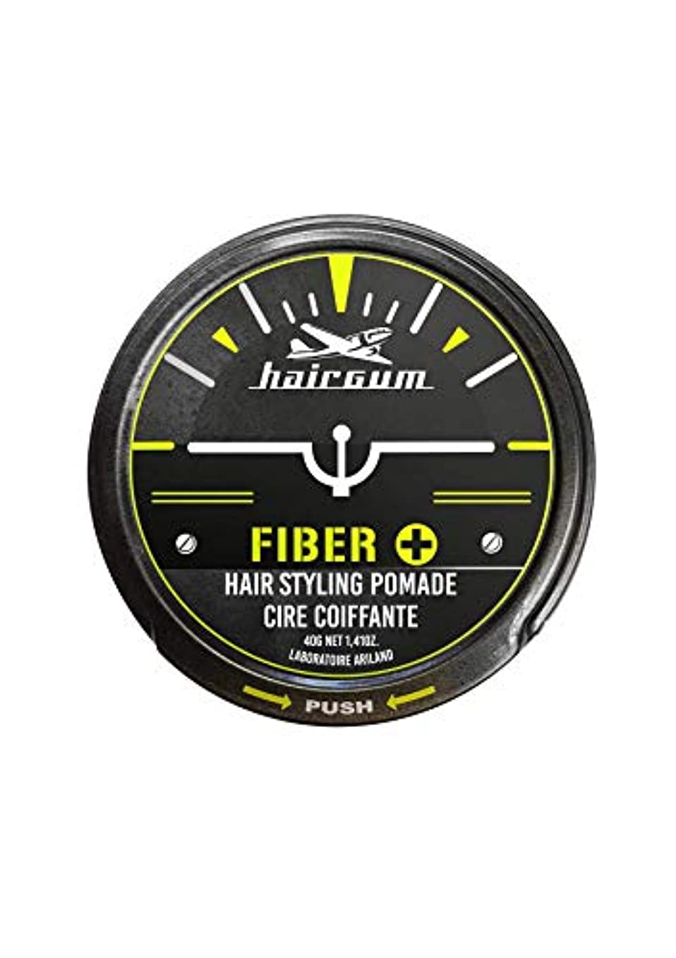 厳密に側余暇hairgum(ヘアガム) Fiber+ Pomade 40g ヘアガム ファイバープラス 水性 ポマード グリース