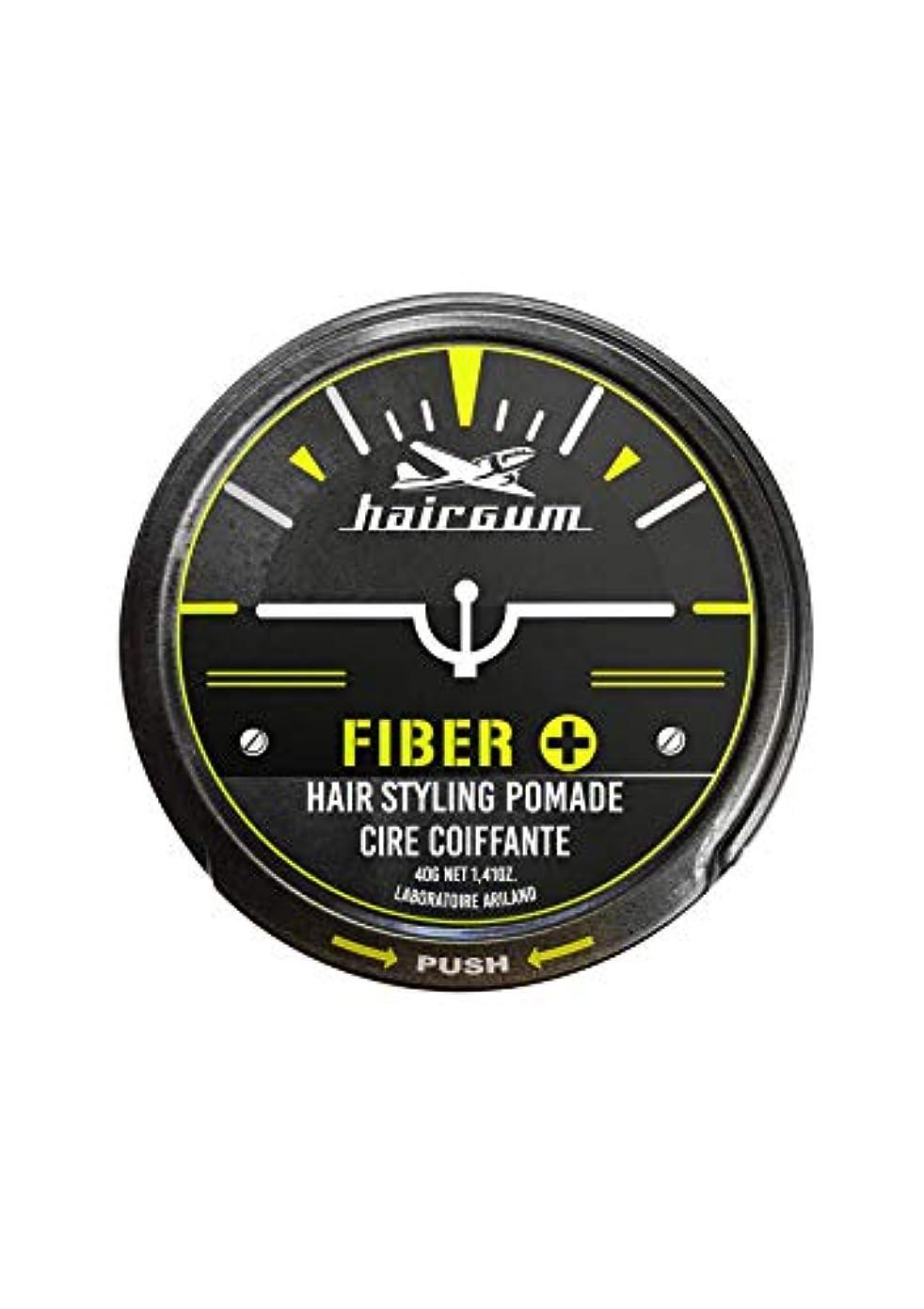 気性おもしろい溶接hairgum(ヘアガム) Fiber+ Pomade 40g ヘアガム ファイバープラス 水性 ポマード グリース
