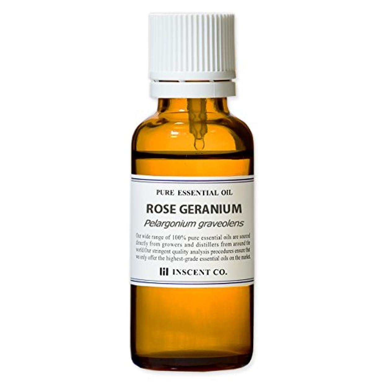当社転倒可決ローズゼラニウム 30ml インセント アロマオイル AEAJ 表示基準適合認定精油