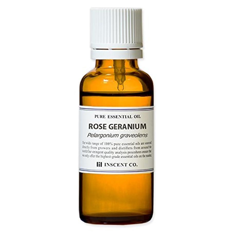 まもなく漏斗事ローズゼラニウム 30ml インセント アロマオイル AEAJ 表示基準適合認定精油