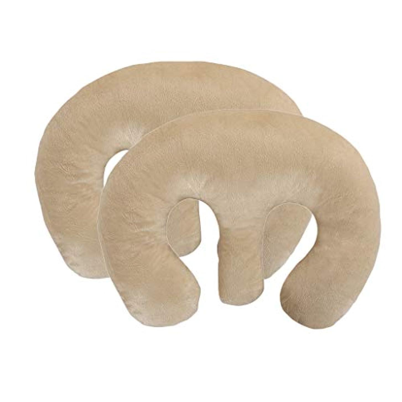 作物宇宙の金銭的なP Prettyia 2ピース ビューティーサロン胸枕 クッション