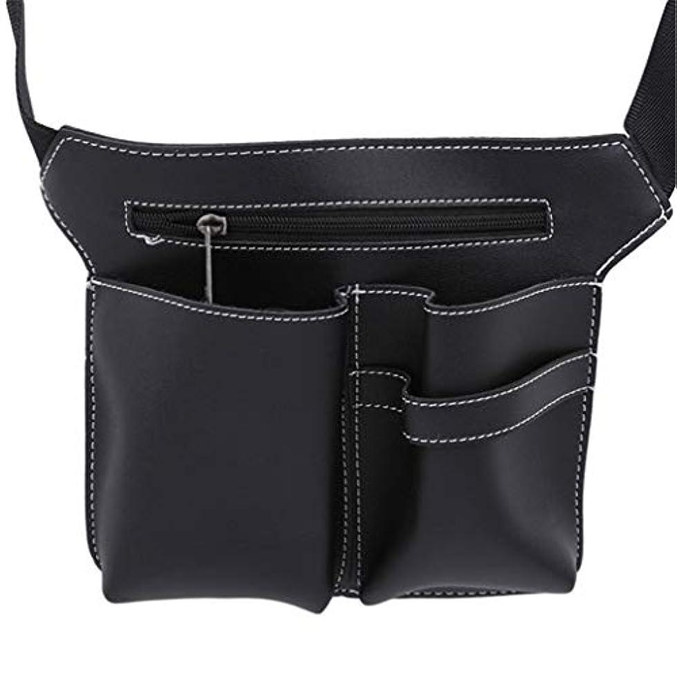 MARUIKAO メイクブラシケース ウエストポーチ 収納バッグ はさみ オーガナイザー ホルダー 化粧ツール 便利グッズ ベルト 美容師 美容用品 保管ポケット