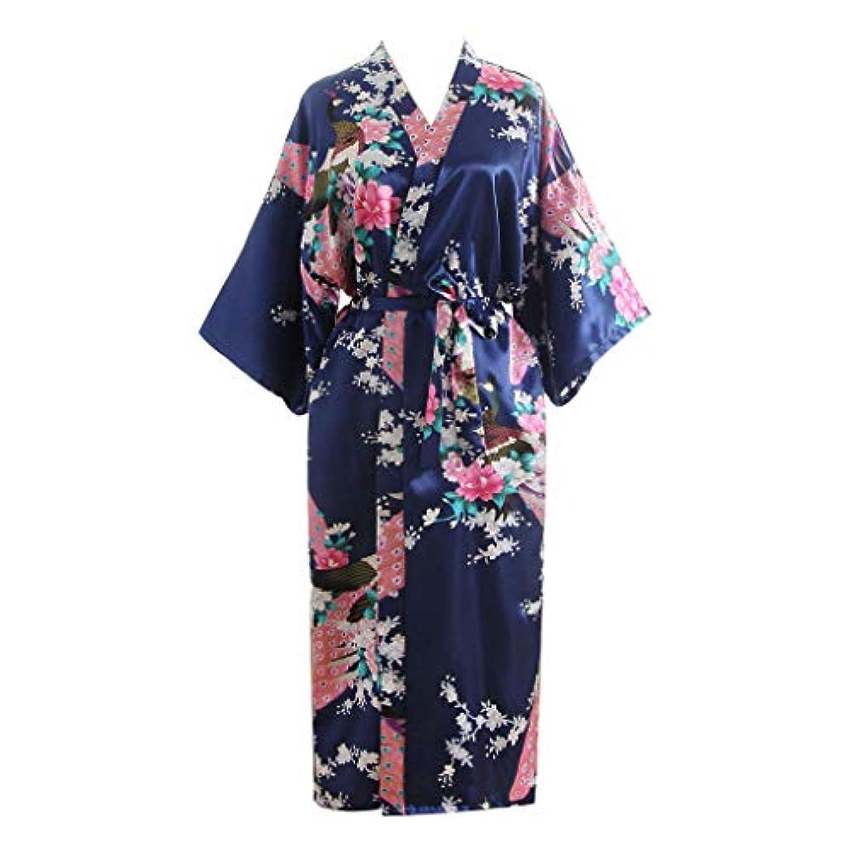 資金山岳要件パジャマ liqiuxiang 女性 スリップ エレガント 和風 レディース リボン 日常 花柄 上品 バスローブウーマン 快適 柔らかい ルームウエア ギフト 記念日