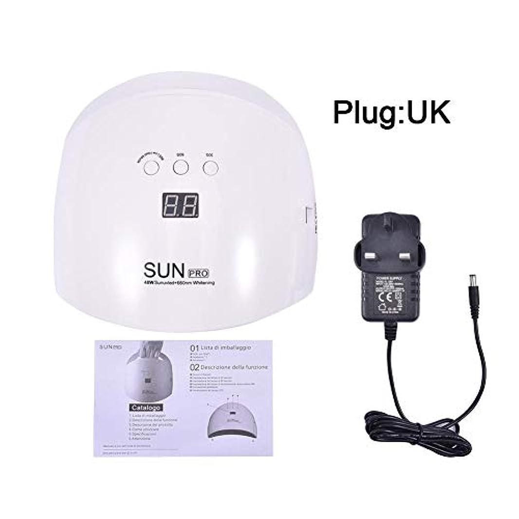 緊急マラウイクリープ48W Dual Light Source Nail Light Therapy Lamp 23 LED Induction Nail Dryer Suitable For All Gel Nails Beauty And...
