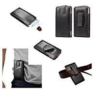 DFV mobile - Magnetic Genuine Leather Holster Executive Case belt Clip Rotary 360? for => TURING PHONE > Black