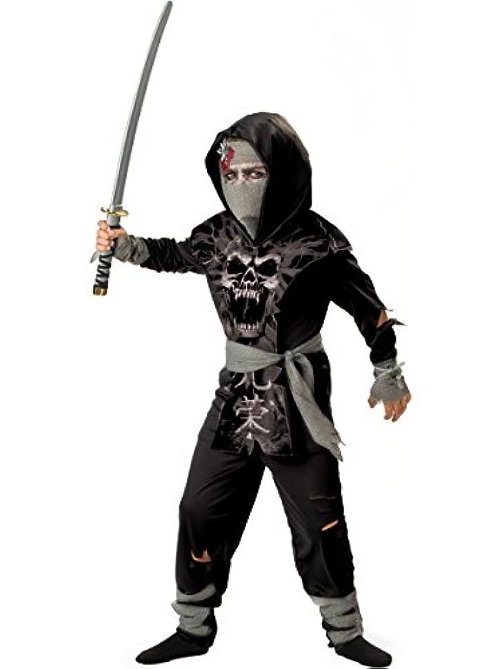 InCharacter Costumes Boys 2-7 Dark Zombie Ninja Costume, Black, Grey, Small by InCharacter