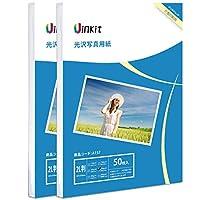 2L判 写真用紙 光沢 インクジェット専用 - 超きれい 写真 2L判 サイズ 100枚 特厚0.32mm Uinkit