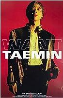 【公式ポスター】 SHINeeのテミン - WANT OFFICIAL POSTER [Type-B] サイズ 60 x 91 cm [ポスター専用ケース] [韓国製]