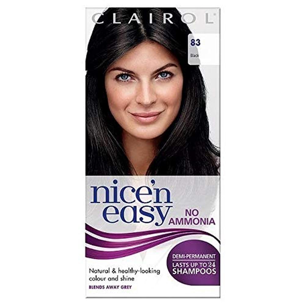 高揚した支援フレッシュ[Nice'n Easy] Nice'N簡単に何のアンモニアの染毛剤ません83黒 - Nice'n Easy No Ammonia Hair Dye Black 83 [並行輸入品]