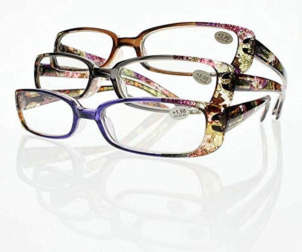 FidgetGear 10組の新しい虹の老眼鏡の花ボヘミアンスタイルの読者+ 1.00?+ 4.00 3組のセット