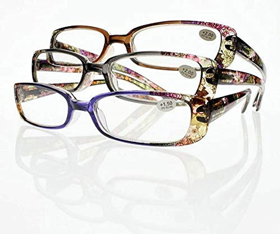 紫の関連するコスチュームFidgetGear 10組の新しい虹の老眼鏡の花ボヘミアンスタイルの読者+ 1.00?+ 4.00 紫の