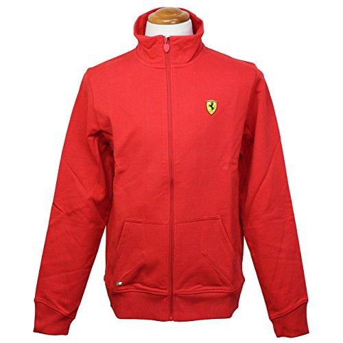 (フェラーリ) Ferrari メンズ スクデット ジップ スウェット レッド (S)