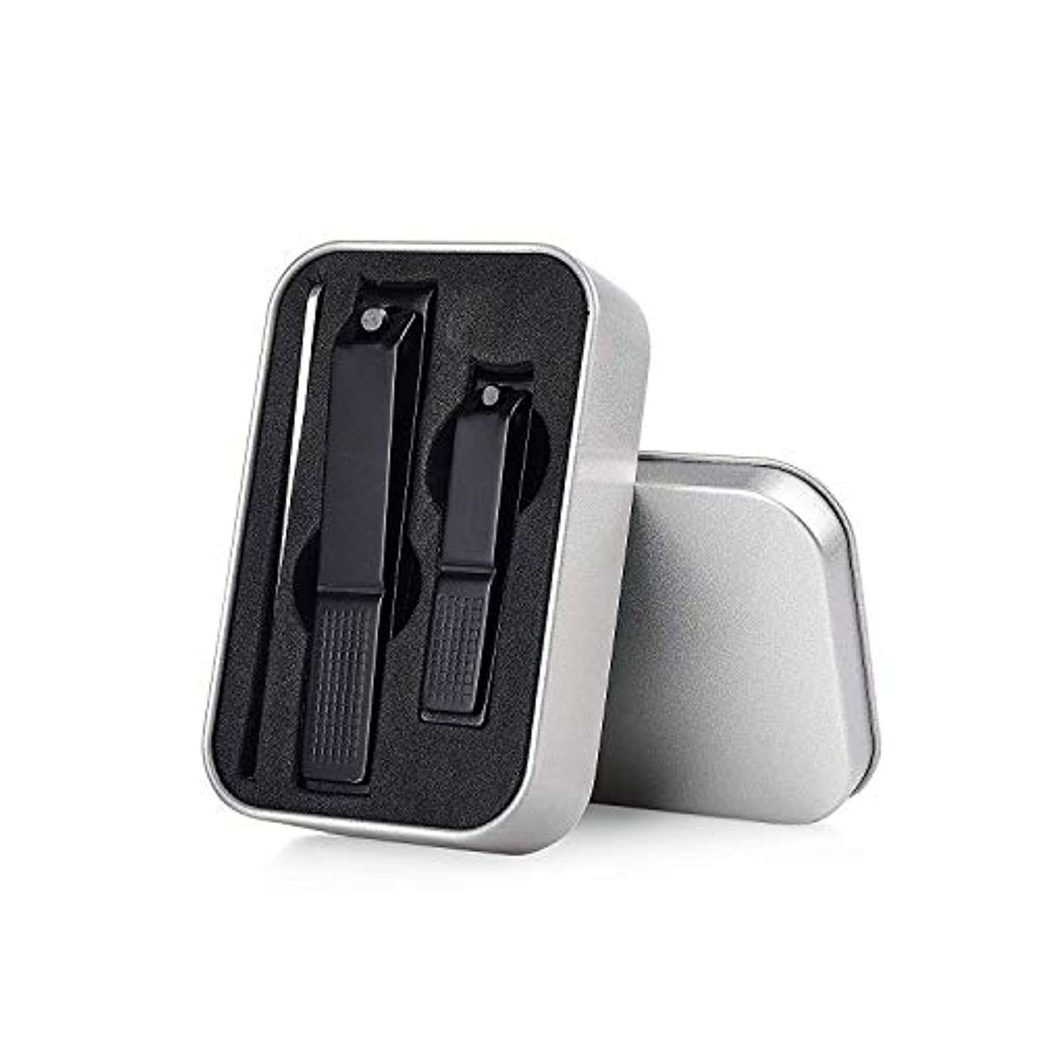 演じるシャット同様に爪&爪+爪やすり(クリーナー)用3ピースネイルクリッパーキット(トラベルケース付き)-シャープネイルカッターセット、満足度100%返金保証