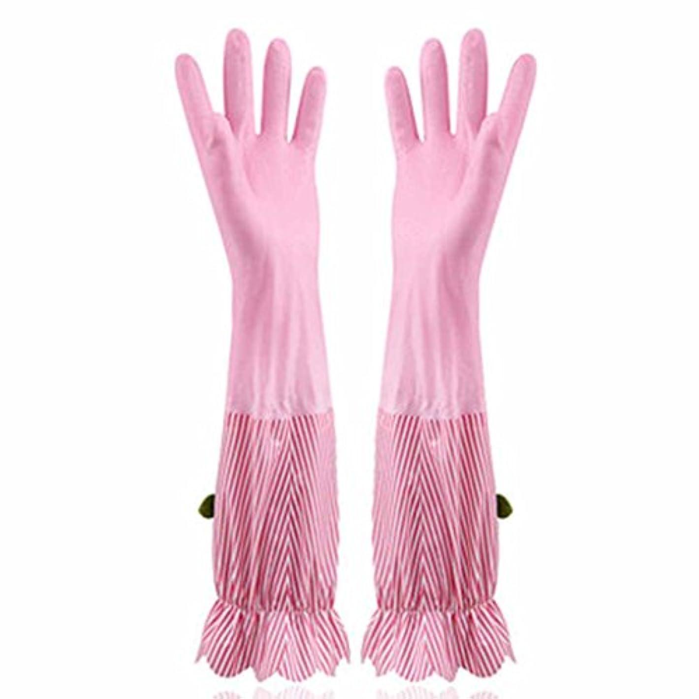 リラックスしたマルクス主義者責める使い捨て手袋 プラスベルベット暖かい食器洗い手袋キッチン家庭防水耐久手袋 (Size : Four pairs)