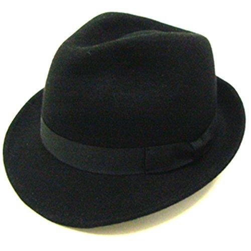 8fc4efaa47483 子供 帽子 キッズ カラー ウール フェルトハット 中折れ 54cm ブラック フェルトの中折れ帽子のキッズサイズ♪フェルトの毛並みが暖かく、固すぎず柔らかすぎず成形  ...