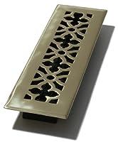 Decor Grates ag2122インチby 12-inchゴシック床登録、ソリッド真鍮
