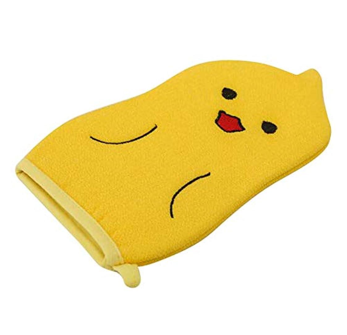 スロープ熱望する改善する子供用バスタオル、赤ちゃんかわいい漫画角質除去バス手袋、C01