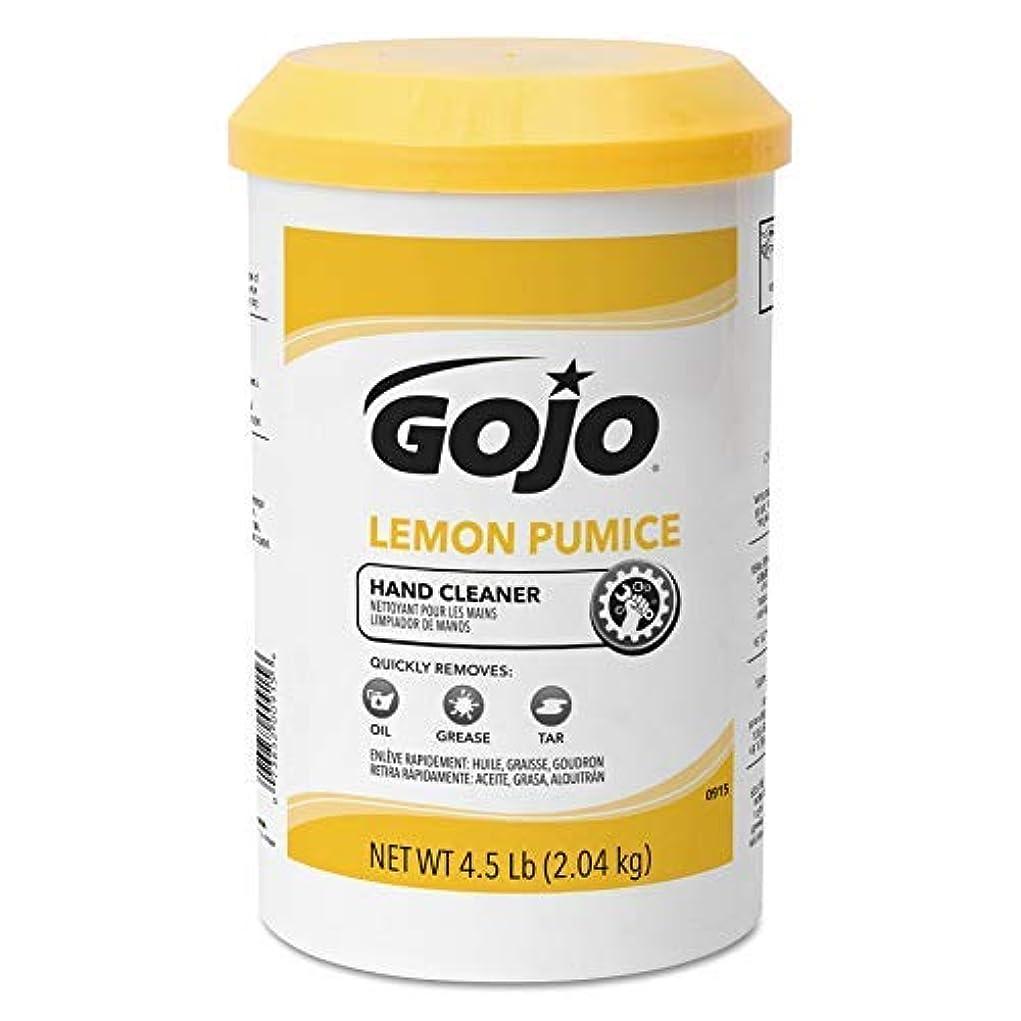 脱臼する入植者相対的GOJO Creme-Style Hand Cleaner with Pumice,Lemon Scent,4.5 Pounds Hand Cleaner Canister Refill for GOJO Creme-Style...