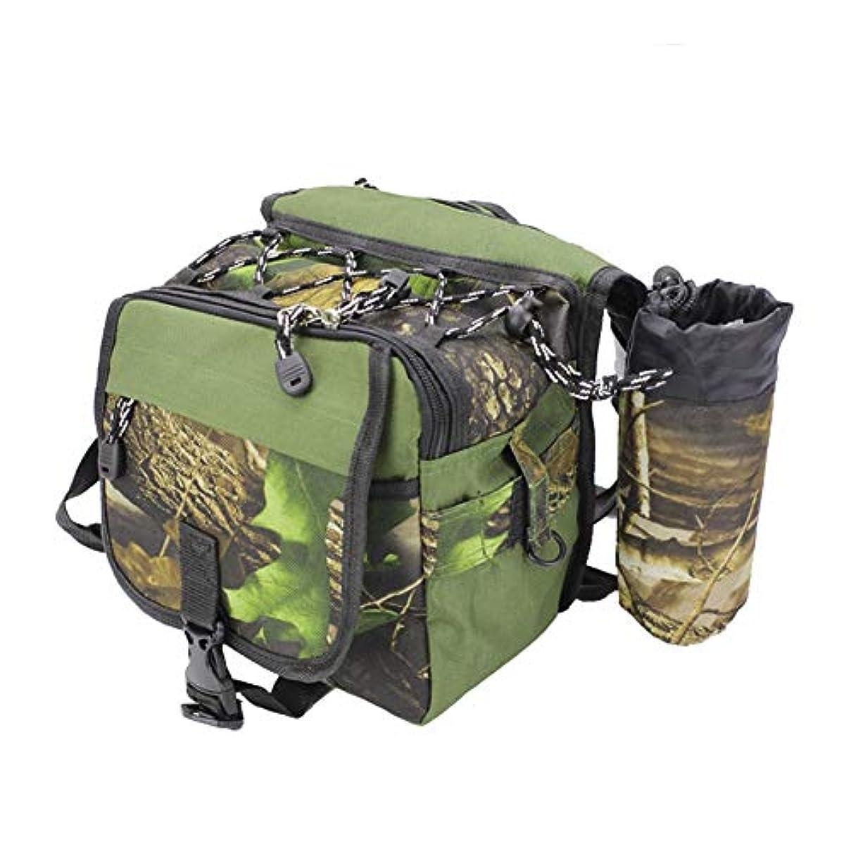 狂気馬力毎日[FUPUTWO] フィッシングバッグ 大容量 ロッドホルダー 釣り道具 タックルバッグ 防水
