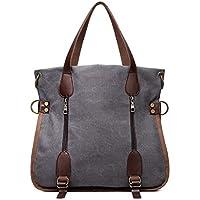 Has Many Uses Multifunctional Canvas Shoulder Bag High Capacity Light File Computer Shopping Travel Sports Commuting Handbag (Gray)