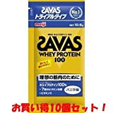 (明治)ザバス ホエイプロテイン100 トライアルタイプ バニラ味 10.5g(お買い得10個セット)