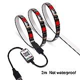 粘着テープ付きテレビバックライト WiFiワイヤレススマートフォン制御マルチカラーLEDストリップライトキット 5050 RGB LEDストリップ、AndroidおよびiOSシステム対応 2m non waterproof 15439263689586