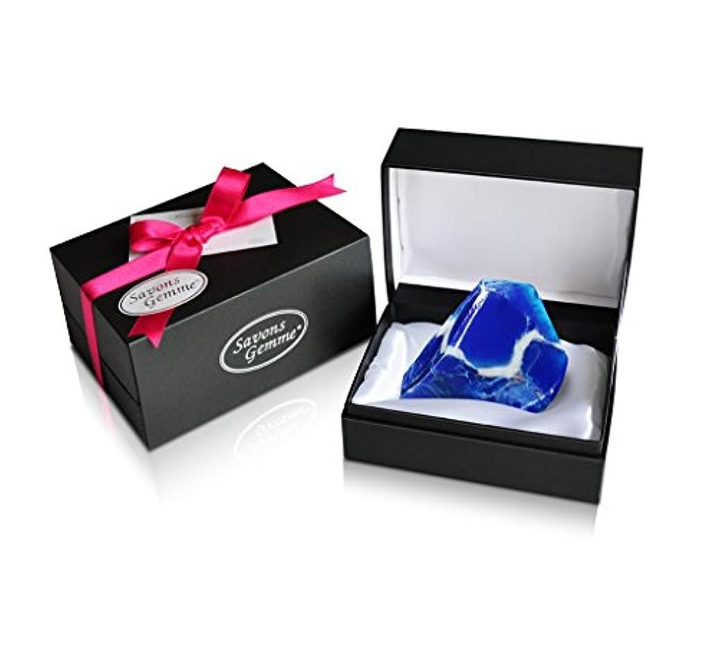 シダ姿勢スポンジSavons Gemme サボンジェム ジュエリーギフトボックス 世界で一番美しい宝石石鹸 フレグランス ソープ ラピスラズリィ 170g