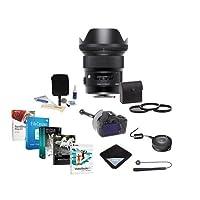 Sigma 24mm f / 1.4DG HSM Artレンズfor Nikon DSLRs–USA保証–Bundle w /フィルタキット、focusshifter DSLRフォローフォーカス、レンズラップ、クリーニングキット、Sigma USB Dock for Canonレンズ、ソフトウェアパックand More
