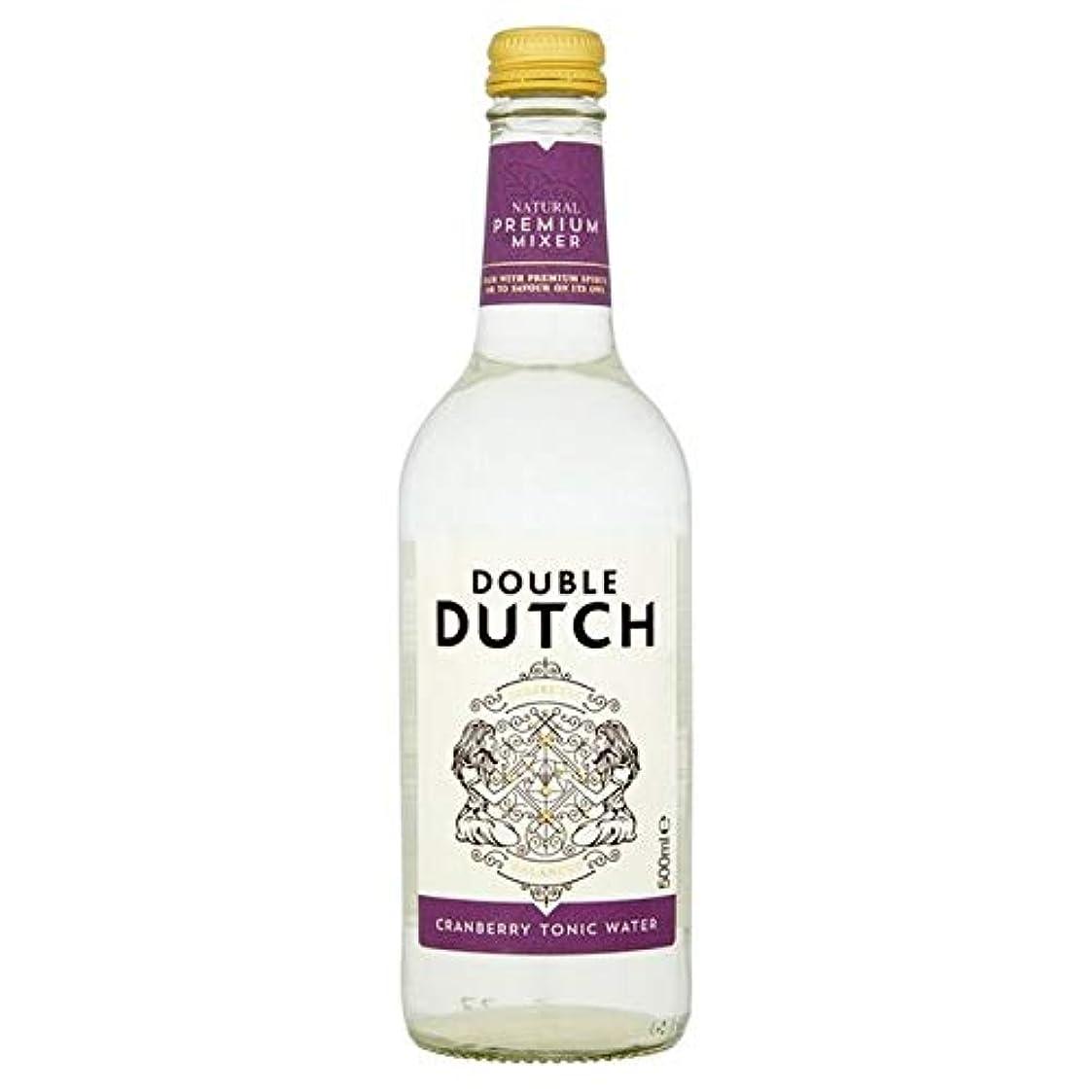 贈り物かすれたナサニエル区[Double Dutch ] ダブルダッチクランベリートニックウォーター500ミリリットル - Double Dutch Cranberry Tonic Water 500ml [並行輸入品]