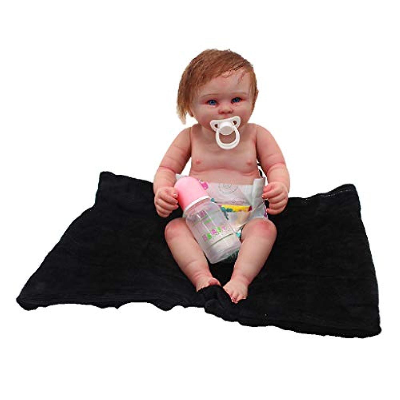 Baoblaze おしゃぶり ボトル ブランケット付き ビニール製 20インチ新生児男の子人形