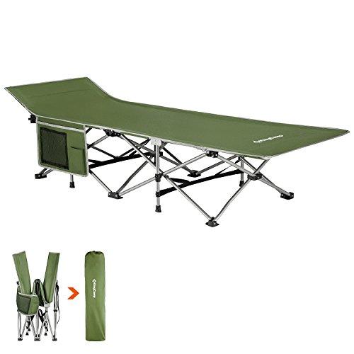 KingCamp(キングキャンプ) コット キャンプ アウトドア ベッド 折りたたみ 簡易 ワイド コンパクト ソロ こっと ツーリング ランキング 防災 耐荷重 140kg 収納 KC8005